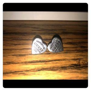 Guess classic heart stud earrings